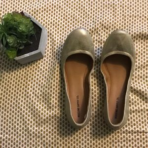 Mossimo Supply Co Gold Flats